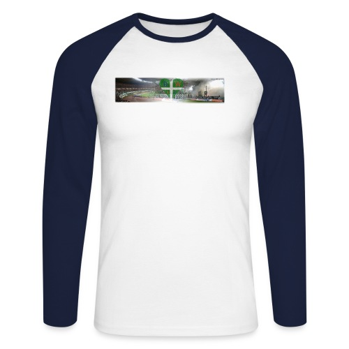 blockwest collage - Männer Baseballshirt langarm