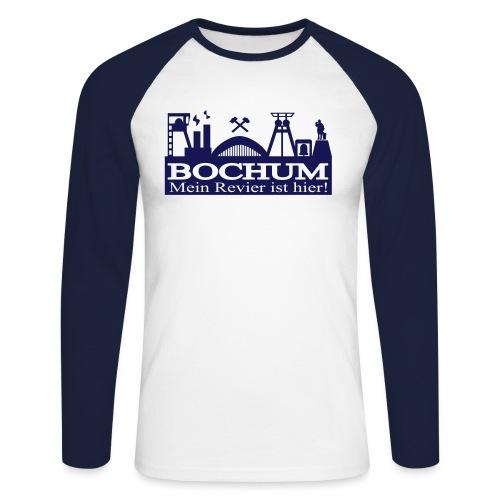 Bochumer Skyline mit Hammer und Eisen - Mein - Männer Baseballshirt langarm