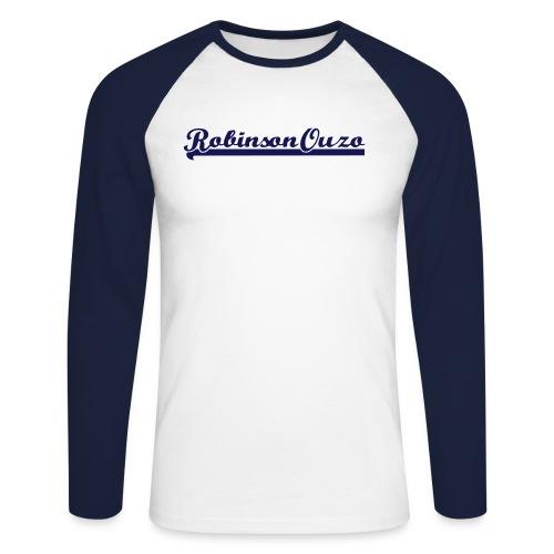 RobinsonOuzoLogo - Männer Baseballshirt langarm