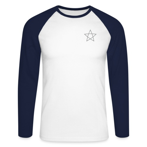 Pentagramm einfarbig - Männer Baseballshirt langarm