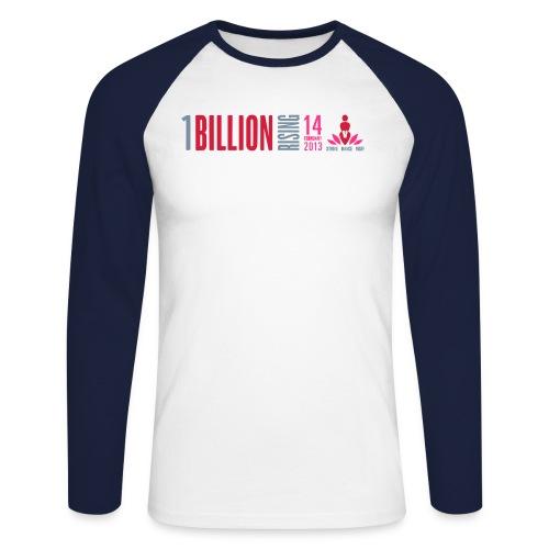 One Billion Rising February 14 2013 - Men's Long Sleeve Baseball T-Shirt