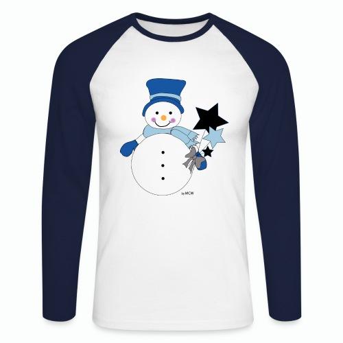 Snowtime-Blue - Männer Baseballshirt langarm