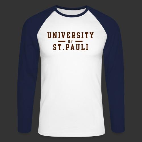 University - Männer Baseballshirt langarm