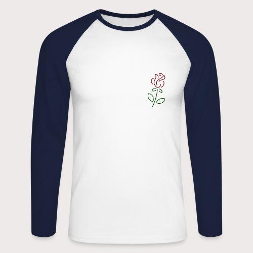 Rose Art - Männer Baseballshirt langarm