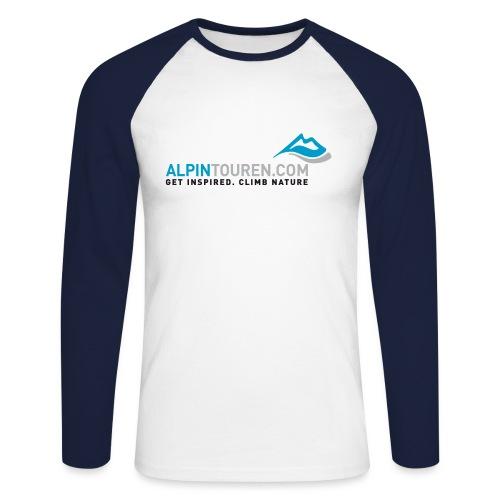 Alpintouren Logo - Männer Baseballshirt langarm