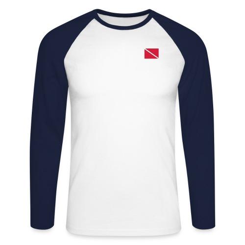 Diver Flag - Men's Long Sleeve Baseball T-Shirt