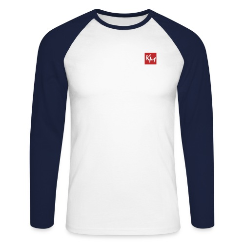 km - Men's Long Sleeve Baseball T-Shirt