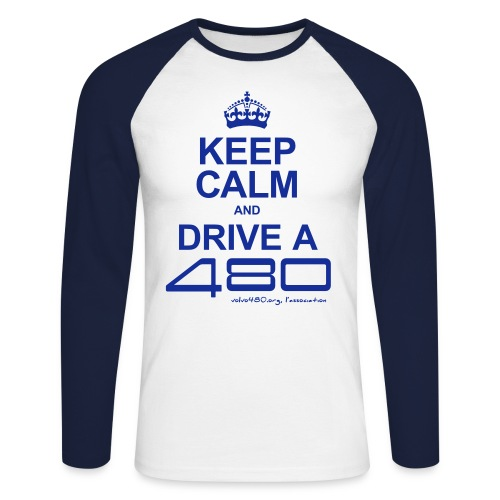 Keep calm and drive a 480 - T-shirt baseball manches longues Homme