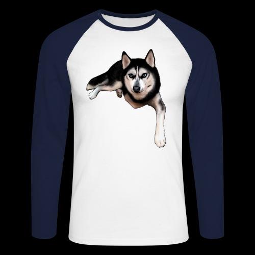 Husky - Men's Long Sleeve Baseball T-Shirt