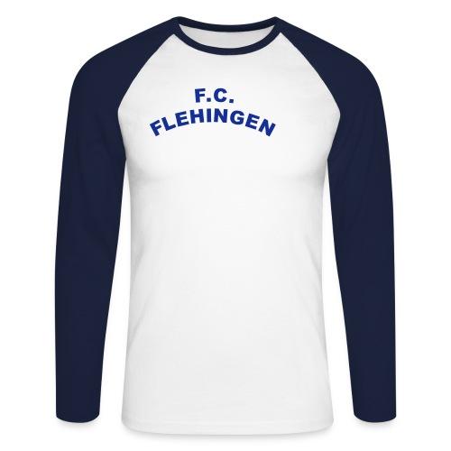 FC Flehingen gebogen - Männer Baseballshirt langarm
