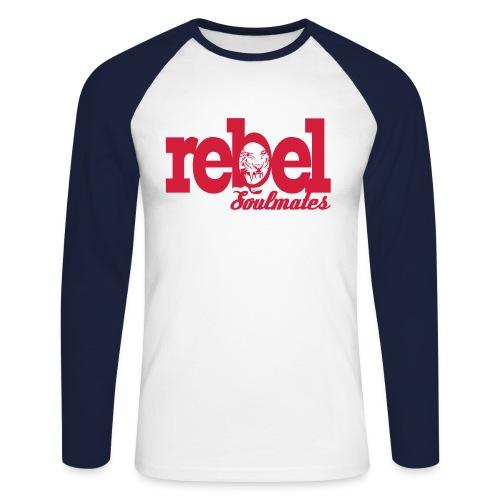 REBEL SOULMATES - Men's Long Sleeve Baseball T-Shirt