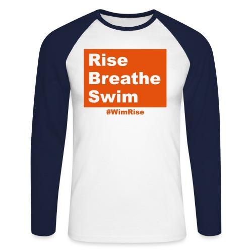Rise Breathe Swim - Men's Long Sleeve Baseball T-Shirt