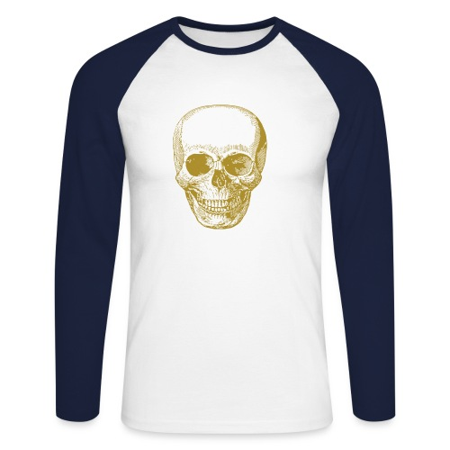 Totenkopf gold - Männer Baseballshirt langarm
