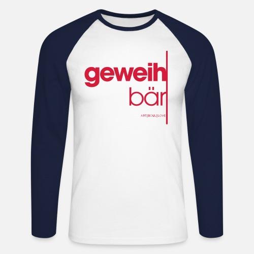 geweihbär 2019 - Männer Baseballshirt langarm