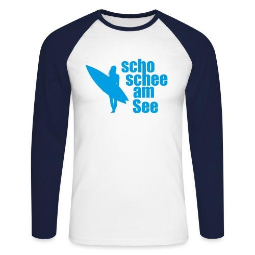 scho schee am See Surferin 03 - Männer Baseballshirt langarm