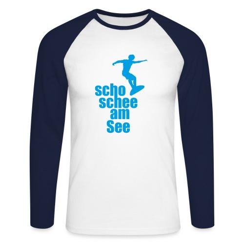 scho schee am See Surfer 02 - Männer Baseballshirt langarm