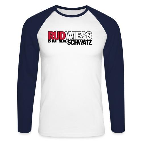 Rud/Wieß is dat neue Schwatz (Kölsch) - Männer Baseballshirt langarm