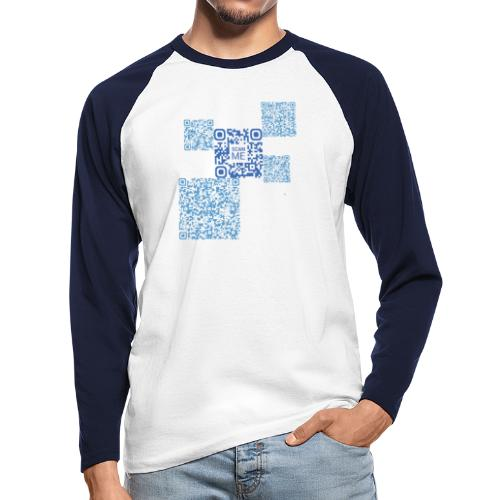 qrcode - T-shirt baseball manches longues Homme