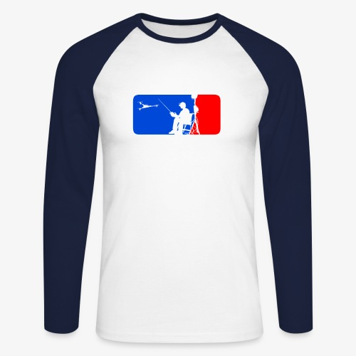 ML FPV Tri - Men's Long Sleeve Baseball T-Shirt