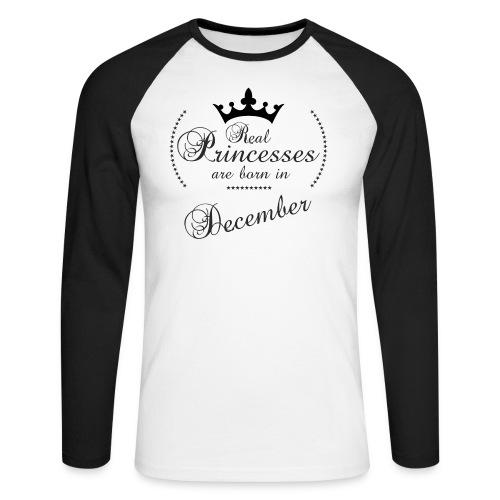 Real Princesses black December - Männer Baseballshirt langarm