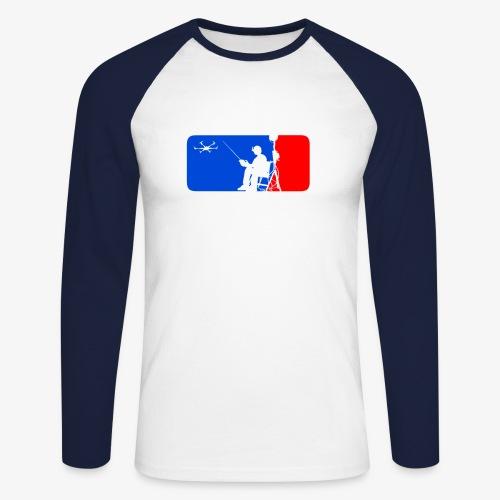 ML FPV Hexa - Men's Long Sleeve Baseball T-Shirt