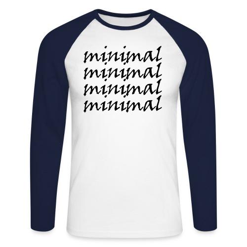 Minimal Design - Männer Baseballshirt langarm