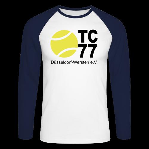 TC 77 Logo - Männer Baseballshirt langarm