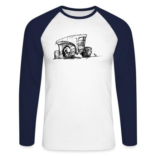 Futuristic design tractor - Men's Long Sleeve Baseball T-Shirt