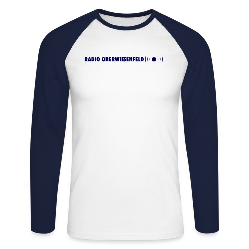 Schriftzugneu png - Männer Baseballshirt langarm