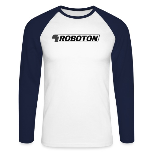 logoRobotonmitkopf schwarz png - Men's Long Sleeve Baseball T-Shirt