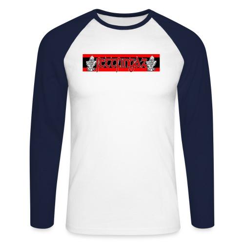 FettLogo001 2 jpg - Männer Baseballshirt langarm