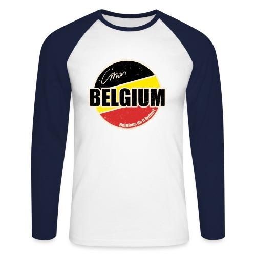 Cmon Belgium - Mannen baseballshirt lange mouw