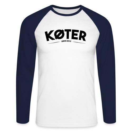 plyed logo koter - Männer Baseballshirt langarm