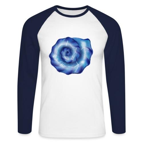 Galaktische Spiralenmuschel! - Männer Baseballshirt langarm