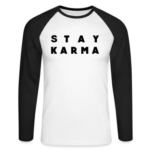 Stay Karma - Maglia da baseball a manica lunga da uomo