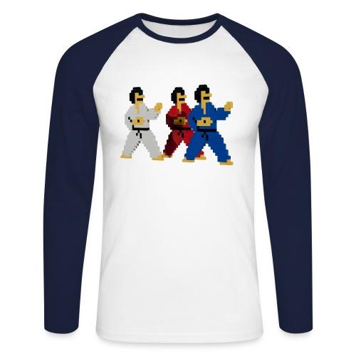 8 bit trip ninjas 1 - Men's Long Sleeve Baseball T-Shirt