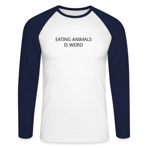 Eating animals is weird - Maglia da baseball a manica lunga da uomo