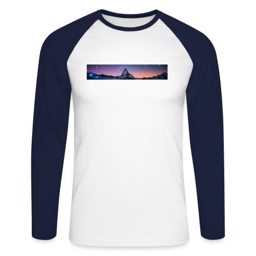 Mountain sky - Männer Baseballshirt langarm
