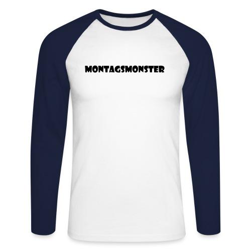 Montagsmonster - Männer Baseballshirt langarm