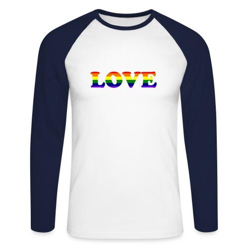 LOVE Rainbow #1 - Männer Baseballshirt langarm