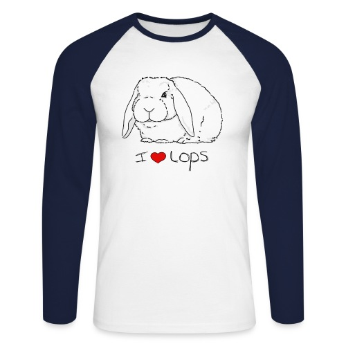 I Love Lops 2 - Men's Long Sleeve Baseball T-Shirt