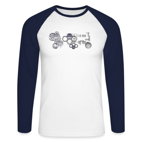 Electro Chrome - T-shirt baseball manches longues Homme