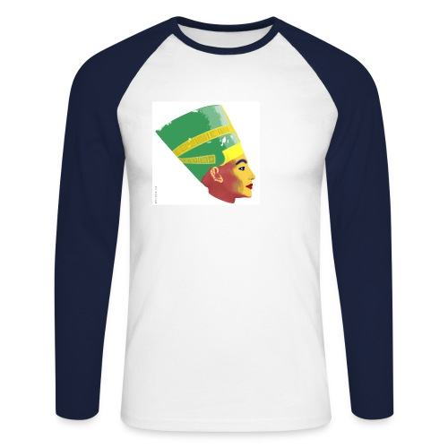 Nofretete - Männer Baseballshirt langarm