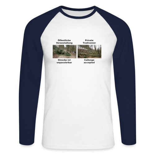 Trailrun Challenge - Männer Baseballshirt langarm