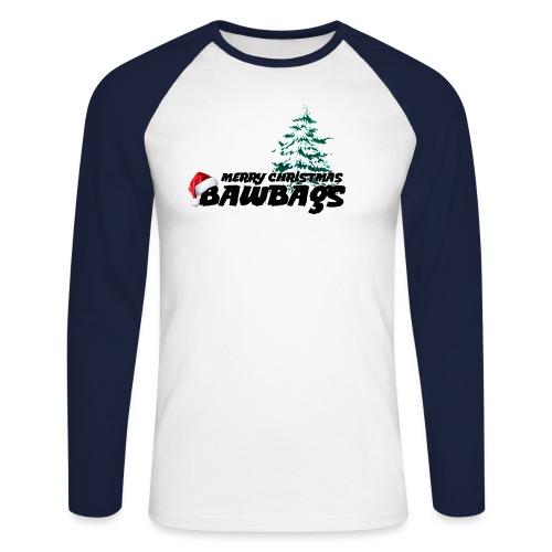 Merry Christmas Bawbags - Men's Long Sleeve Baseball T-Shirt
