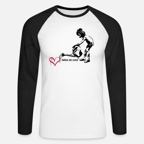liebe ist cool - Männer Baseballshirt langarm