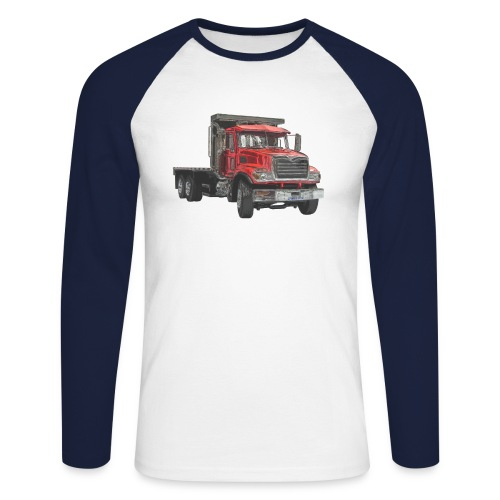 Flat Truck 3-axle - Red - Men's Long Sleeve Baseball T-Shirt