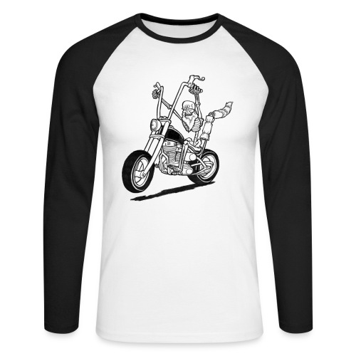 Dead Rider - Men's Long Sleeve Baseball T-Shirt