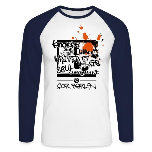 B for Berlin - Graffiti - Männer Baseballshirt langarm