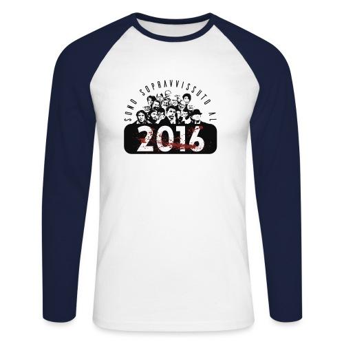 La tshirt del 2016 M - Maglia da baseball a manica lunga da uomo